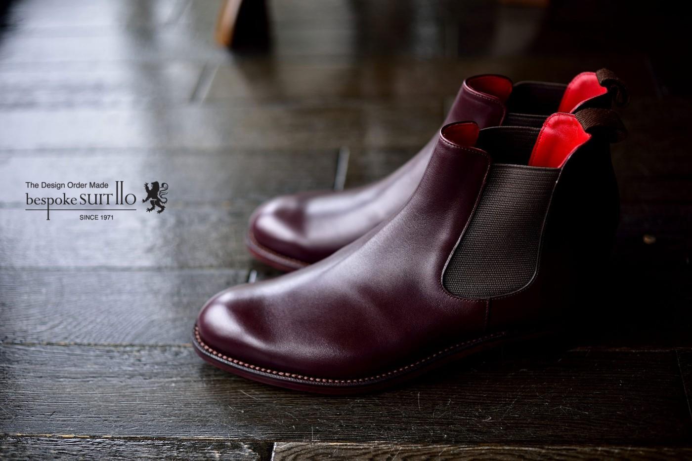 オーダー靴,宮城興業,和創良靴,サイドゴアブーツ,アノネイ,福岡,北九州,ビスポークスーツ110,bespokeSUIT110,bespokeSUITIIO,