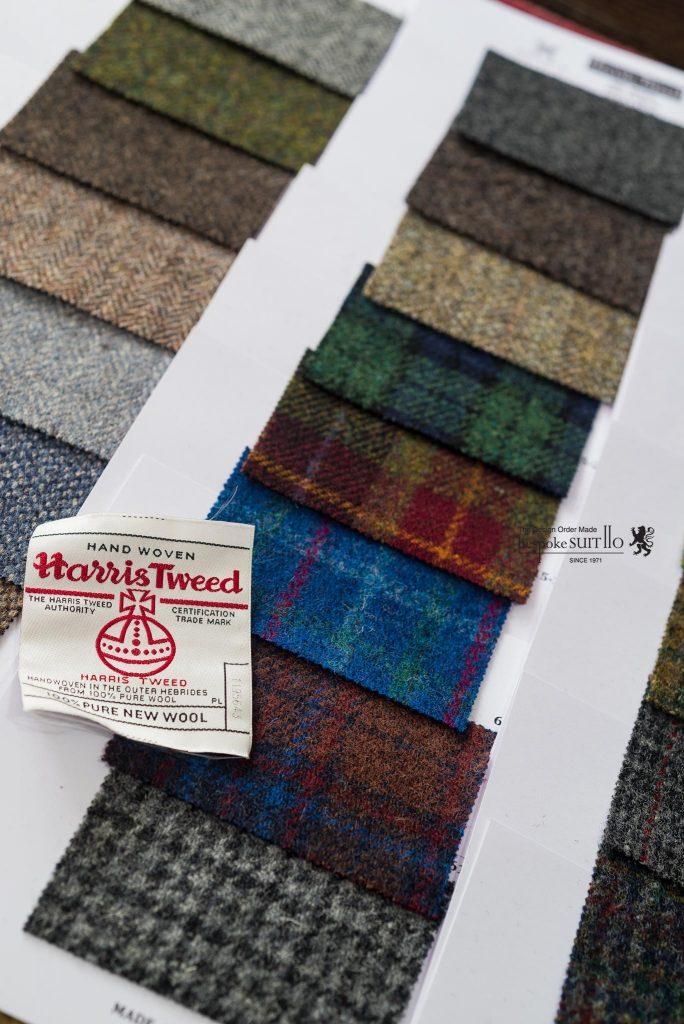 ハリスツイード(Harris Tweed)は英国王室御用達のツイードである。スコットランドのアウター・ヘブリディーズ諸島で入手されたヴァージンウールを使用して、島民によって手作業で染色、紡績をし、一枚一枚手織りされている。そしてハリスツイード協会によって決められた厳しい基準をクリアしたもののみハリスツイードと認められる。また認められたもののみオーブの商標が与えられる,ハリスツイード,Harris Tweed,スコットランド,Scotland,ツイード,ツイードジャケット,オーダーツイード,2016AW,オーダーシャツ,秋冬,オーダースーツ,オーダージャケット,誂え,紳士,オーダーメイド,福岡,黒崎,北九州,八幡西区,ビスポークスーツ110,bespokeSUIT110,bespokeSUITIIO,