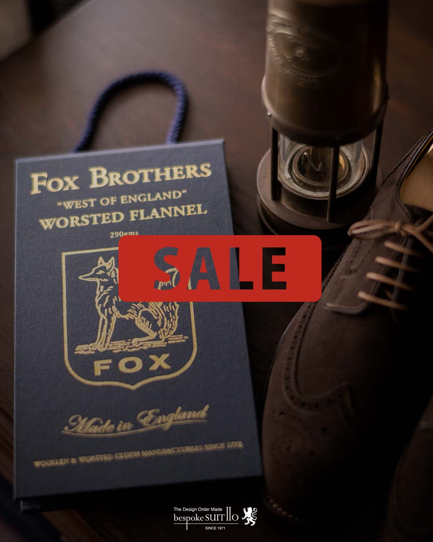 ★SALE!FOX BROTHERS / WORSTED FLANNEL(ウーステッドフランネル)コレクション 40%OFF