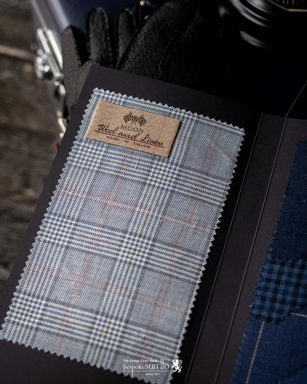 Abraham Moon & Sons(アブラハムムーン&サンズ)グレンチェックのスーツ生地のスワッチ